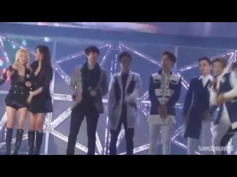 SHINee Minho SNSD Yuri (MinYul) - SM Town Shanghai 141018 Part 1