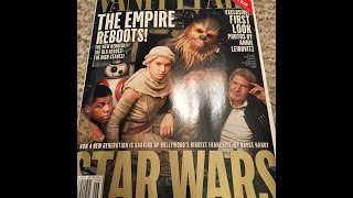 VANITY FAIR STAR WARS FORCE AWAKENS MAGAZINE REVIEW JUNE 2015