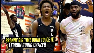 Bronny James ICES The Game w/ BIG DUNK!! LeBron Goes CRAZY For Gabe Cupps!! Heated Semi-Finals!
