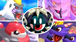 Kirby's Return to Dreamland - All Bosses (3 Player)