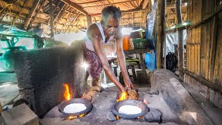 Coconut Shell Jet Flame!! INDIAN JUNGLE FOOD in Kozhikode! | Kerala, India!