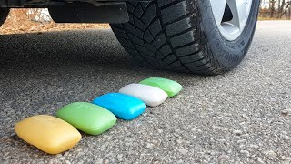 Crushing Crunchy & Soft Things by Car! EXPERIMENT CAR vs SOAP