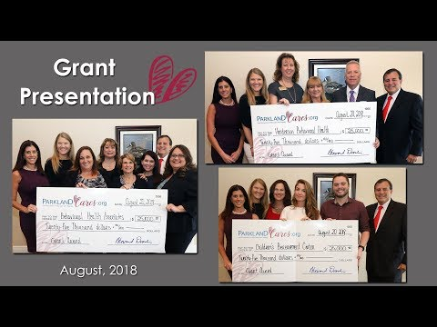 On August 20, 2018 Parkland Cares Founder Howard Dvorkin, CPA presented $75,000 in grant money to representatives from Behavioral Health Associates of Broward, Children's Bereavement Center, and Henderson Behavioral Health. Less than six months ago Parkland Cares accepted their first donation. They launched the nonprofit with the goal of providing mental health and trauma counseling to everyone affected by the tragedy at Marjory Stoneman Douglas High School. #ParklandCares #MSDStrong