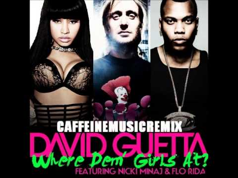 Baixar David Guetta ft.Nicki Minaj and Flo Rida - Where dem girls at (sped up)