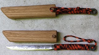 How to make a knife from all thread - knife making on a budget - Forging a knife without power tools