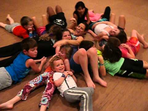 Kid Yoga - Enjoying laughter at the end of class!