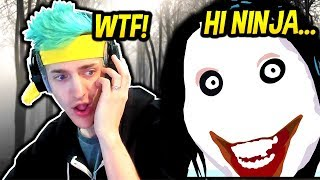 NINJA HEARS CREEPY VOICE IN FORTNITE! *SCARY* Fortnite SAVAGE & FUNNY Moments