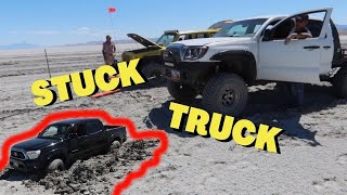 --TACO & JEEP-- Paul helps Matt's Off Road Recovery with a NOT SO DRY Lake Rescue!!