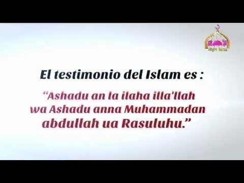 El testimonio del islam. الشهادة فى الاسلام