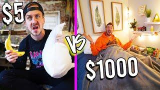 $5 VS $1,000 SLEEPOVER! *Budget Challenge*