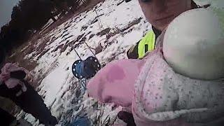 Konfliktā iesaistīta kompānija mēģina aizbēgt no policijas pa trauslo Juglas ezera ledu