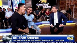 Tinashe & Brandon - DWTS 27 Exit Interview (GMA)
