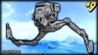 Star Wars Battlefront 2 - Funny Moments #9 (AT-ST Random Moments!)