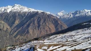 Auli Ropeway way to Nanda Devi Eco Huts, Auli