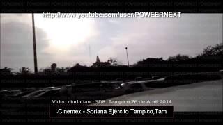 Fuerte Balacera en Tampico, Tamaulipas Los Cartel del Golfo se Pelean en Cinemex & Soriana Ejército