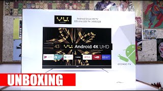 VU 4k Android TV Unboxing Feat Mi TV 4
