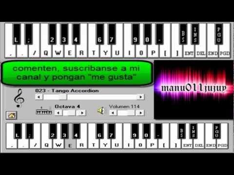 La Liga -Entre El Cielo Vos Y Yo. Piano Electronico 2.5