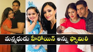 Manmadhudu movie heroine Anshu family's latest pics create..