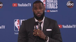 LeBron James Postgame Interview - Game 1 | Cavaliers vs Warriors | May 31, 2018 | 2018 NBA Finals
