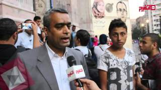 وقفه تضامنيه أمام نقابة الصحفيين ضد اقتحام المسجد الاقصي     -