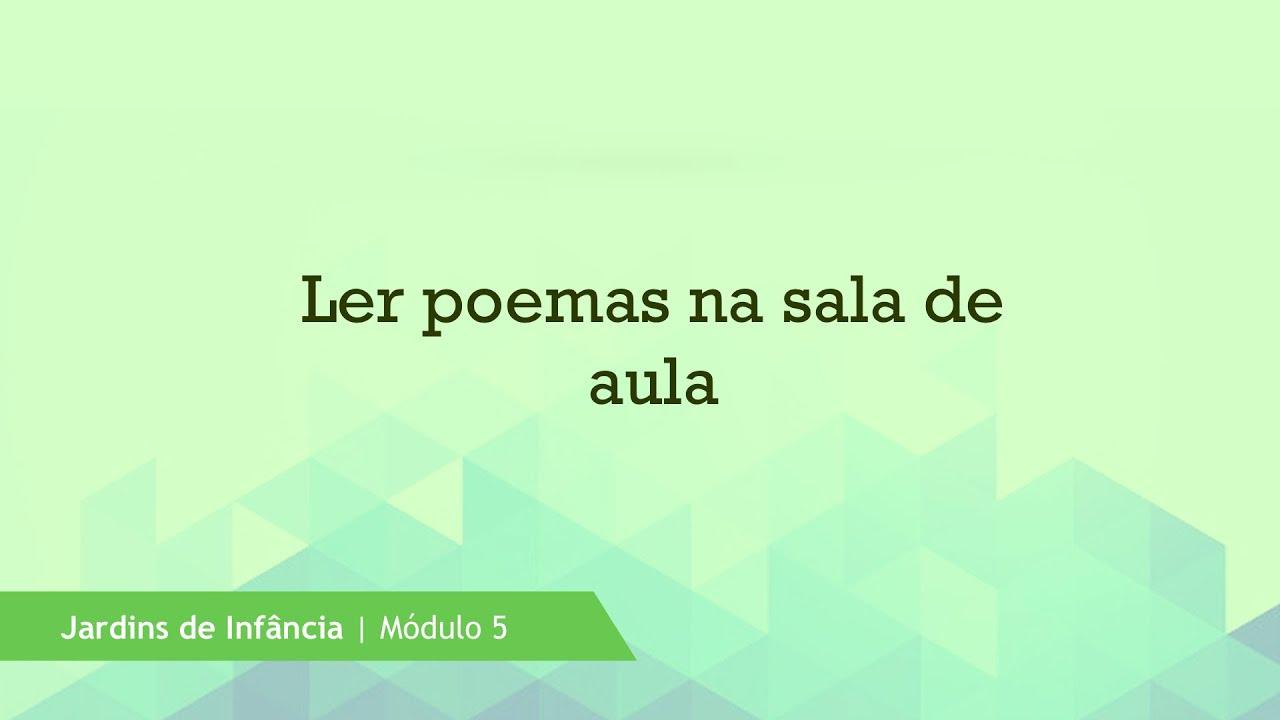Ler poemas na sala de aula