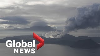 Philippines' Taal volcano eruption watch January 18