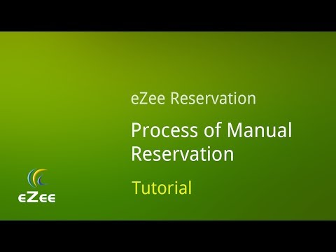 How to make Manual Bookings in eZee Reservation, Online Hotel Booking Engine