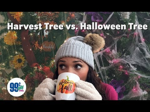 Fall's here and it's time to put up your Harvest Trees! Or, maybe you should try a HALLOWEEN TREE this year! What side are you on?