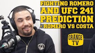 Robert Whittaker talks about fighting Romero and gives his prediction for Romero vs Costa at UFC 241