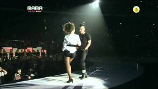 MAMA 2010 - Taeyang Kiss Dara from 2NE1 [HD]