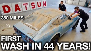 First Wash in 44 years! Barn Find Datsun 280z with only 350 Original Miles