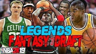 LEGENDS ONLY FANTASY DRAFT REBUILDING CHALLENGE IN NBA 2K19 | 8 MVPS!