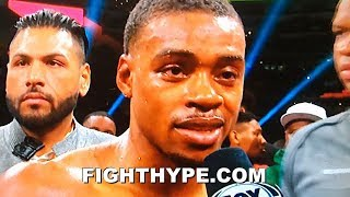 ERROL SPENCE SECONDS AFTER DOMINATING MIKEY GARCIA; CLOWNS SHAWN PORTER AND RESPONDS TO CRITICS
