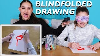 BLINDFOLDED DRAWING CHALLENGE #2 (Haschak Sisters)