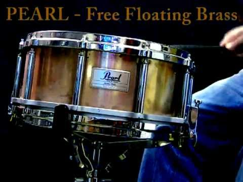 """Pearl Free Floating brass snare 14x6.5"""""""