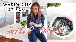 Waking Up at 5AM: Productive Weekend Morning Routine☀️