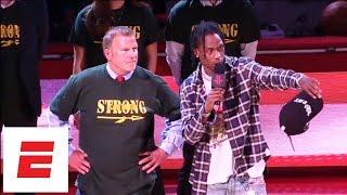 Travis Scott gives message to Santa Fe seniors before Game 5 of Rockets vs. Warriors | ESPN