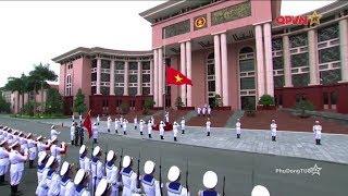 Video tuyệt đẹp Lễ thượng cờ tại Bộ quốc phòng Việt Nam