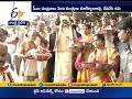 CM Chandrababu presents Silk Clothes to Kanaka Durga temple at Vijayawada