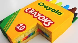 BACK-TO-SCHOOL Crayon Box CAKE!