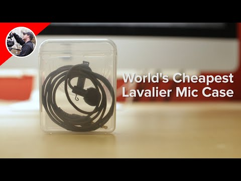 World's Cheapest Lavalier Microphone Case