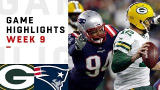 Packers vs. Patriots Week 9 Highlights | NFL 2018