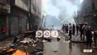 رصد | حريق العتبة وآثار تدمير 8 عقارات بالكامل     -