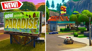 The NEW Fortnite Map! GREASY GROVE + MOISTY PALMS GAMEPLAY! (Fortnite Battle Royale)