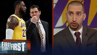 Nick Wright discusses if Luke Walton the best fit for LeBron, Lakers | NBA | FIRST THINGS FIRST