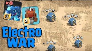 8 Electro Dragon 6 Balloon & Siege Machine = Electro War TH12   New Attack TH12 Clash Of Clans