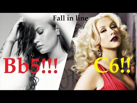 Christina Aguilera & Demi Lovato Fall in line High Notes!! (Bb5 & C6)