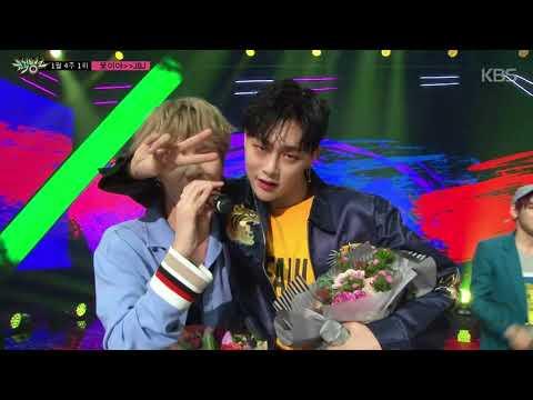 뮤직뱅크 - 1월 4주 1위 JBJ - '꽃이야 세리머니 Cut'  20180126