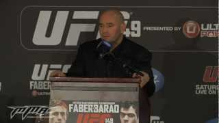 Dana White 'Embarrassed' at UFC 149 Post-Fight Press Conference