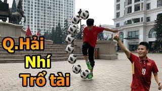 Thử Thách Bóng Đá mùa AFF CUP 2018 Đỗ Kim Phúc thách đấu Quang Hải nhí 6 kỹ thuật bóng đá cực khó